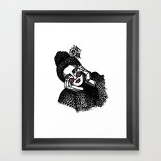 triangle sweater Framed Art Print