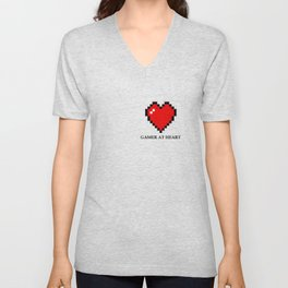 Gamer at heart Unisex V-Neck
