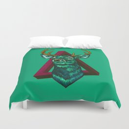 Green Stag Duvet Cover