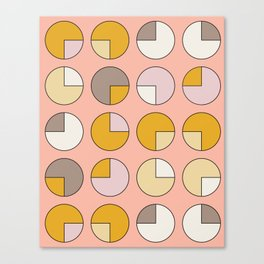 Pie Pink Canvas Print