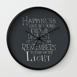 Happiness can be found Wall Clock