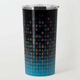 Binary Speed Blue Travel Mug