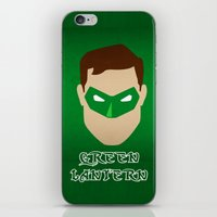 green lantern iPhone & iPod Skins featuring Green Lantern by Sport_Designs
