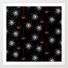 Halloween Spiders Art Print
