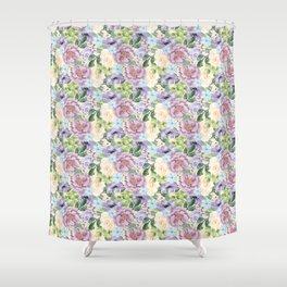 Roses & Forget Me Nots Shower Curtain