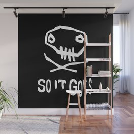 So It Goes (White) Wall Mural