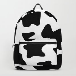 black and white ranch farm animal cowhide western country cow print Backpack