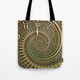 Bronze Metallic Ornate Spiral Time Machine Tote Bag