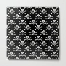 Skull - Iron Pattern Metal Print