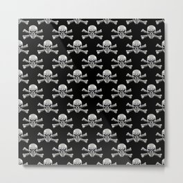 Skull - Iron Pattern Metal Print