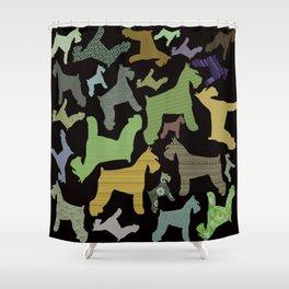 schnauzer pattern *black* Shower Curtain