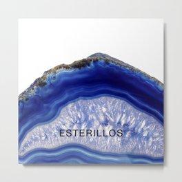 Esterillos blue agate Metal Print