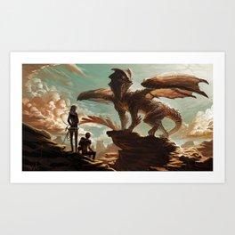 Hellkite Monarch Art Print