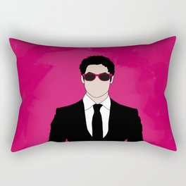 Pink Darren Criss Rectangular Pillow