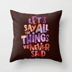All The Things Throw Pillow