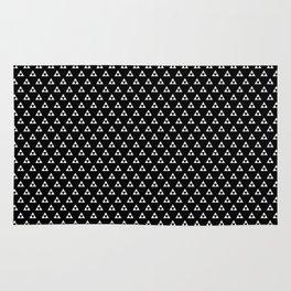 Triforce (White on Black) Rug