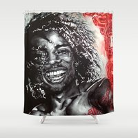 africa Shower Curtains featuring Africa by Lucy Schmidt Art