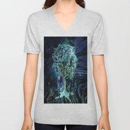 Starry Night Tree of Life Unisex V-Neck