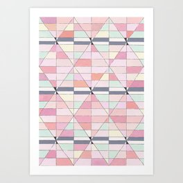 Sorbet Pinks Art Print
