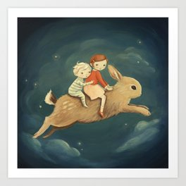 Bunny Kids by Emily Winfield Martin Art Print