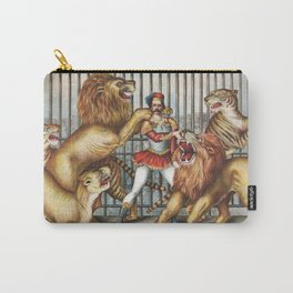 The Lion Tamer - Vintage Circus Art, 1873 Carry-All Pouch