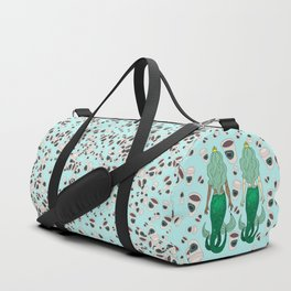 Star Butts Coffee Mermaids Duffle Bag