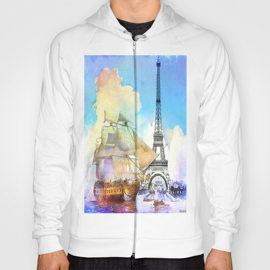 The boarding of the Eiffel Tower Hoody