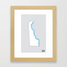 Delaware Pixels Framed Art Print