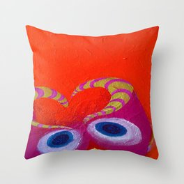 Owly Owl Throw Pillow