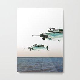 atmosphere · the flying fish Metal Print