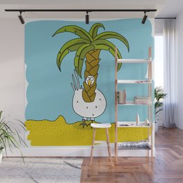 Eglantine la poule (the hen) dressed up as a palm Wall Mural