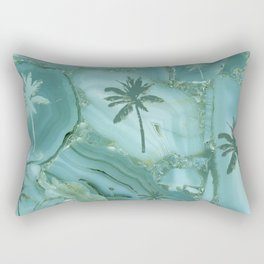 Palm Trees Geode Abstract Background Rectangular Pillow