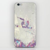 snowboard iPhone & iPod Skins featuring Explorers IV by HappyMelvin