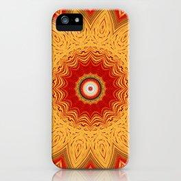 Bright Gold Orange Mandala iPhone Case