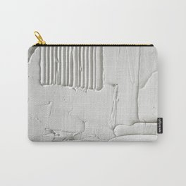 Relief [3]: an abstract, textured piece in white by Alyssa Hamilton Art  Carry-All Pouch