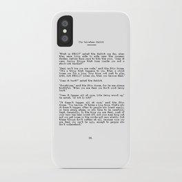 Becoming Real, Velveteen Rabbit Quote iPhone Case