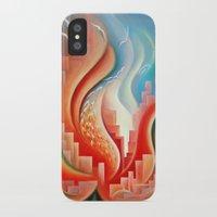 Hibiscus City iPhone X Slim Case