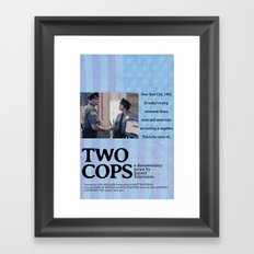 Two Cops Movie Poster Framed Art Print