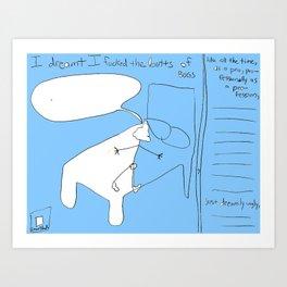 Bluebuttbuggin 0048 Art Print