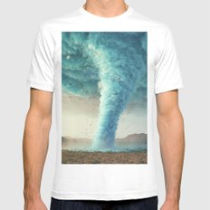 Tornado White SMALL Mens Fitted Tee