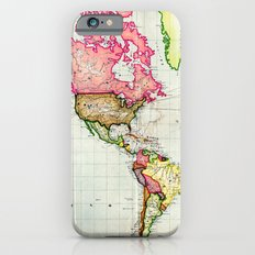 Colorful Antique Map of the World iPhone 6s Slim Case