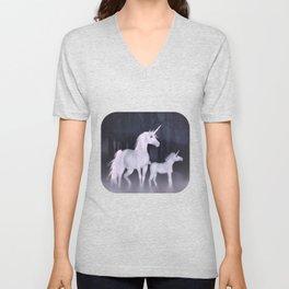 FANTASY - Unicorns Unisex V-Neck