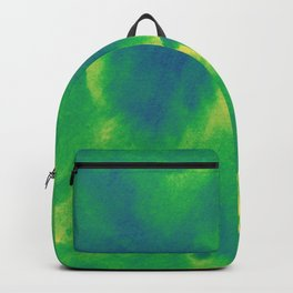 Watercolor texture - green and blue Backpack