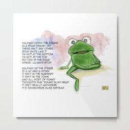 Robin the Frog Metal Print