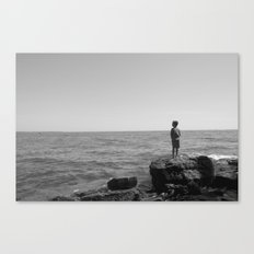 On the horizon BW Canvas Print