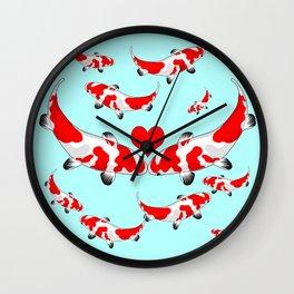 Koi Fish Kisses Wall Clock