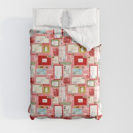 Kids Letters to Santa l Christmas Pattern - Pink Comforters