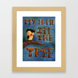 My Home in the Tree Framed Art Print