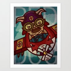 red dog  Art Print