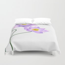 Thamarai, Yellow Flower, Floral Pattern, Yellow Blossom Duvet Cover